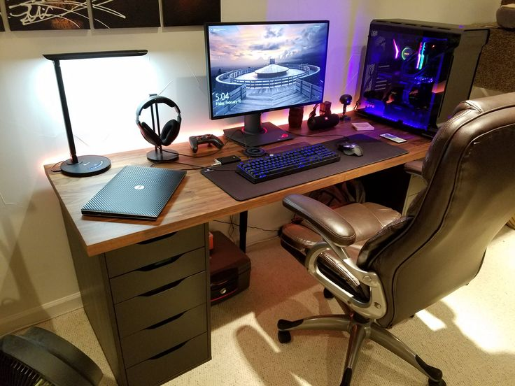 The 25 best ikea gaming desk ideas on pinterest best gaming desk ikea gaming desk ikea hack - Bureau gamer ikea ...