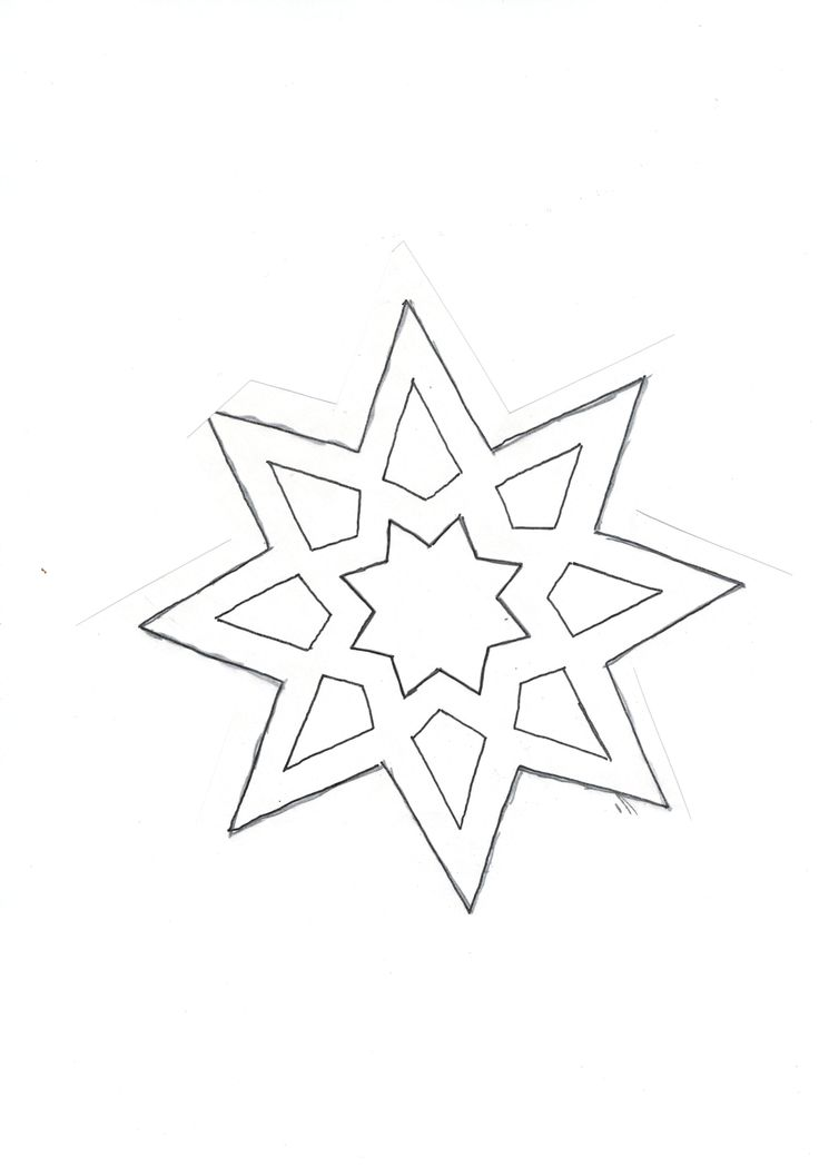 star (cut it out & cover the holes with glued colored transparent paper on the back - looks pretty in windows)