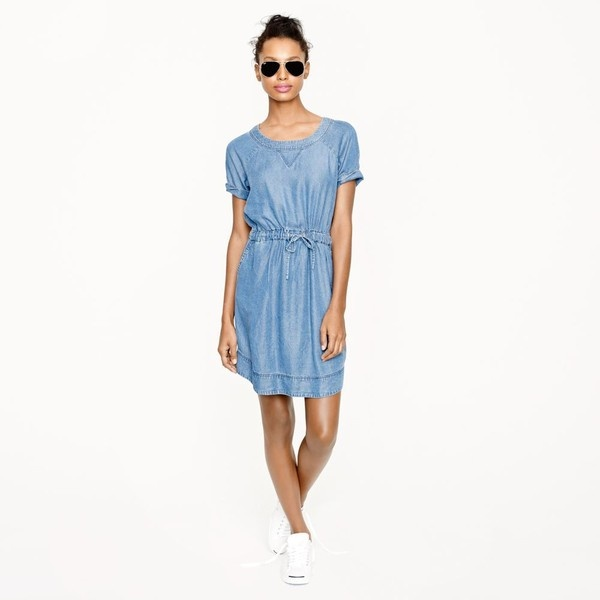 J.Crew Lightweight washed chambray dress ($118) via Polyvore