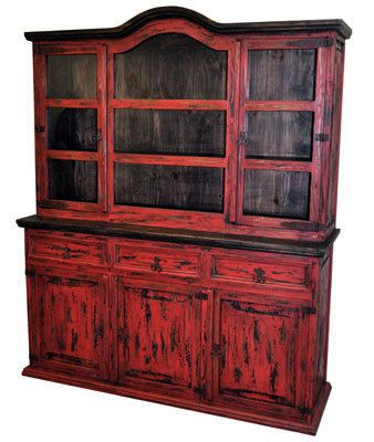Red Scrape Med 2 Pc China | Rustic Furniture | Great Western Furniture Co.