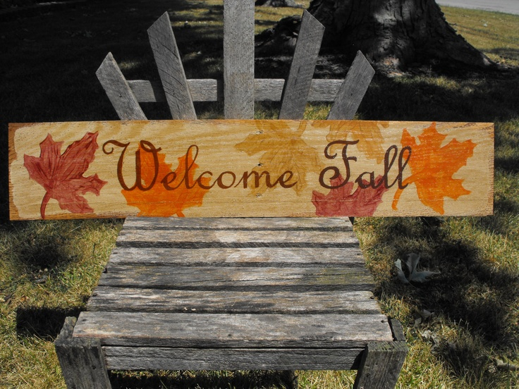 "Hippity Hop >> Welcome Fall: a primitive, acrylic, hand painted, distressed sign measuring 27"" x 5"". $20.00 ..."