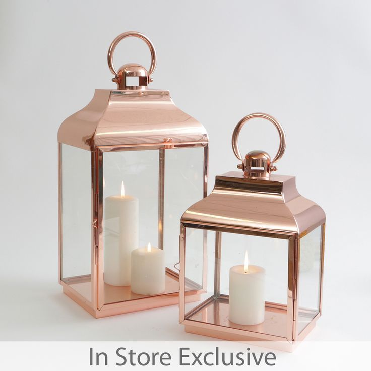 Our Cove lanterns are absolutely perfect for entertaining, and they'll suit any home! These timeless copper lanterns come in two sizes, and both feature a glass surround to protect your candles from breeze. For the best look, style together!