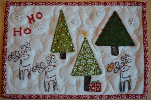 Christmas Scrappy Mug Rug - from Dawn (guiltyquilter) to m… | Flickr