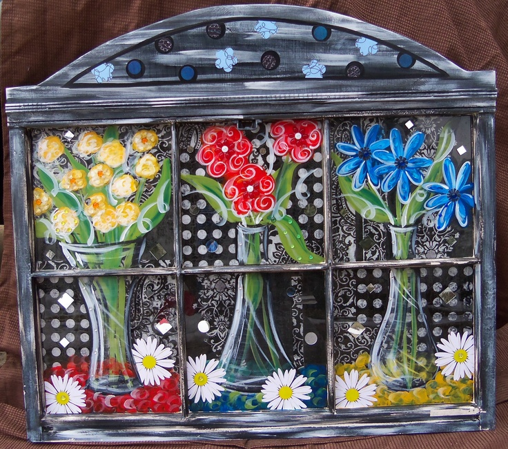 1000 Images About Painted Window Ideas On Pinterest