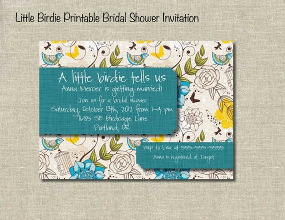 Little Birdie Bridal Shower InvitationKatie'S Bridal, Katy Bridal, Birdie Bridal, Bridal Shower Invitations, Bridal Showers