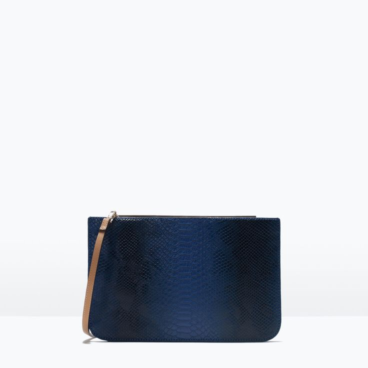 ZARA - SHOES & BAGS - TWO-TONE CLUTCH WITH METALLIC DETAIL