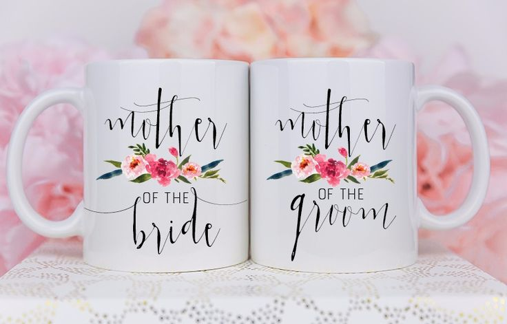 Mother of the bride, Mother of the groom gift, mug set, wedding gift