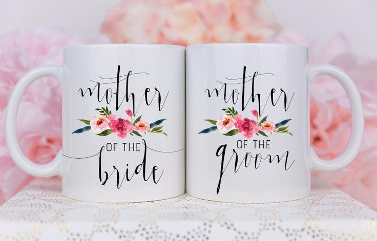 Mother of the bride, Mother of the groom gift, mug set, wedding gift
