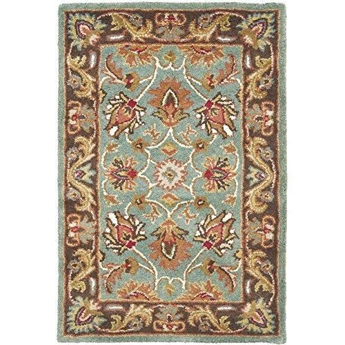 3x5ft Blue Brown White Red Traditional Blue Border Area Rug Indoor Oriental Bedroom Dining Living Room Flooring Rectangle Carpet Classic Floral Timeless Thick Pile Handmade From Wool Mat