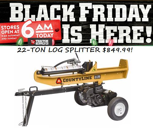Tractor Supply Black Friday Sale Is Live: Great Deals On Boots, Tools, Farm Items and Log Splitter!! - http://couponingforfreebies.com/tractor-supply-black-friday-sale-is-live-great-deals-on-boots-tools-farm-items-and-log-splitter/