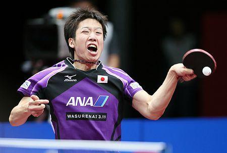 男子準決勝のドイツ戦で、日本の1勝目を挙げた2番手の水谷隼=4日、東京・国立代々木競技場 ▼4May2014時事通信|一矢報いた水谷=平常心で強豪から1勝-世界卓球 http://www.jiji.com/jc/zc?k=201405/2014050400210 #Jun_Mizutani #team_Japan #2014_World_Table_Tennis_Championships