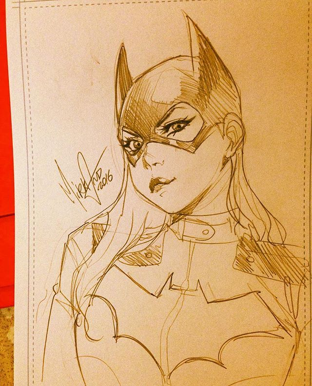 Batgirl by Mirka Andolfo #LondonSuperComicCon last day!  You can find my originals, prints, books (someone with a sketch like this inside) in Artist Alley area, BOOTH A12! Also if, unfortunately, I'm not at the con you'll find my friends at the table. #LSCC #sketch #batgirl #dccomics #mirkand #barbaragordon #batfamily #batman