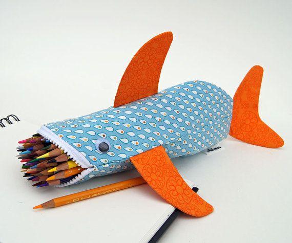 Shark pencil case.