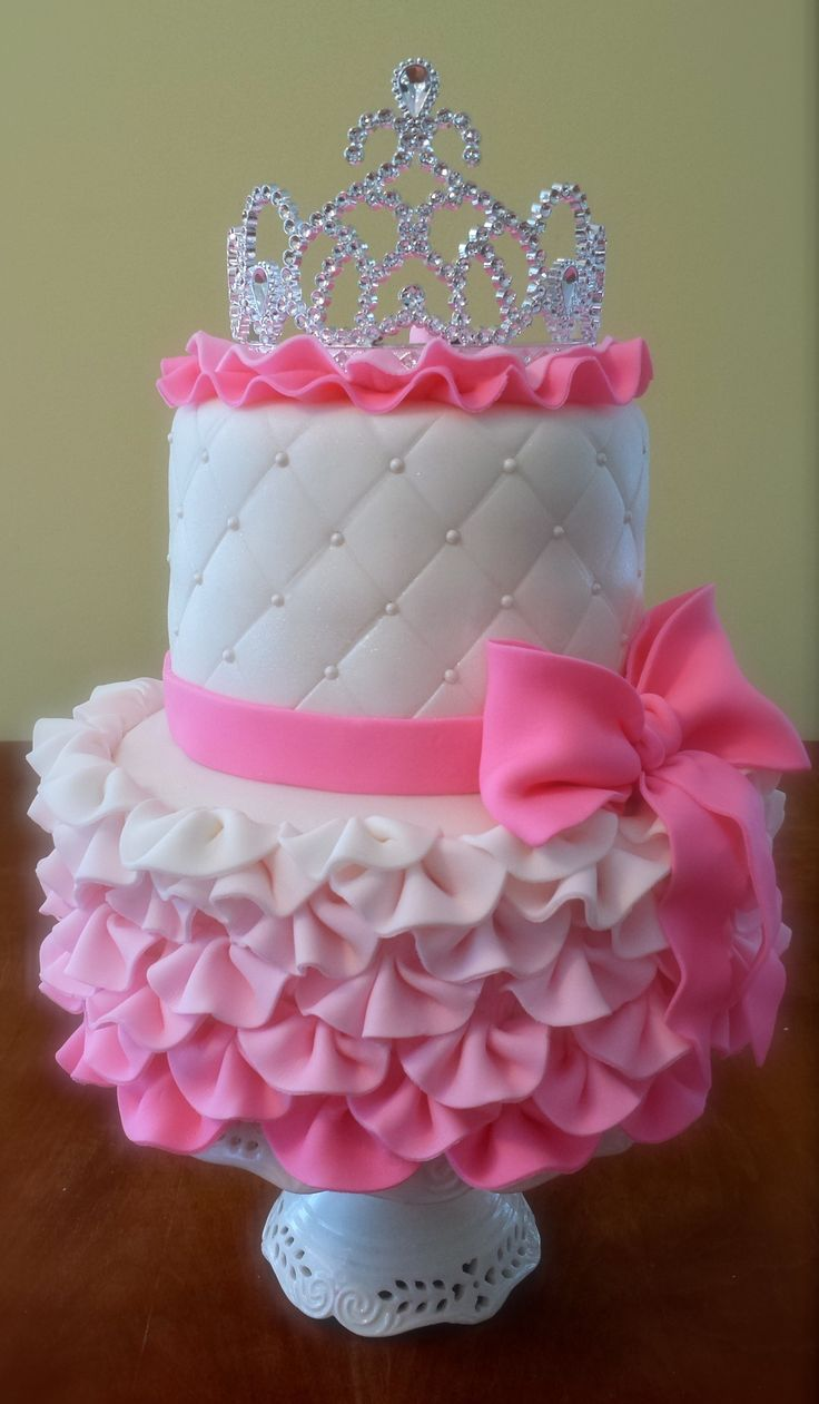 Cake Ideas For First Birthday Girl : PRINCESS CAKE IDEAS Cute princess, Birthdays and Baby girls
