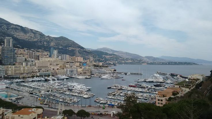 #PortHercule This city/country is one of the most attractive I know. Here we are high up on the hill ( near the palace of the prince) overlooking the harbour. It may be hard to tell but there are some pretty BIG 'yachts' out there! by traveltwits from #Montecarlo #Monaco