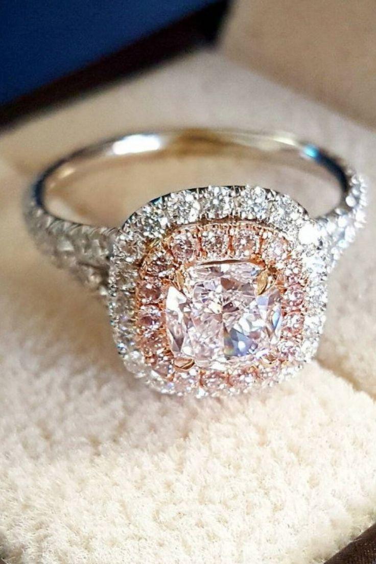15 Stunning Engagement Rings By @diamondmansion Cushion Cut Engagement  Ringscustom Engagement Ringsring Engagementpink Diamond