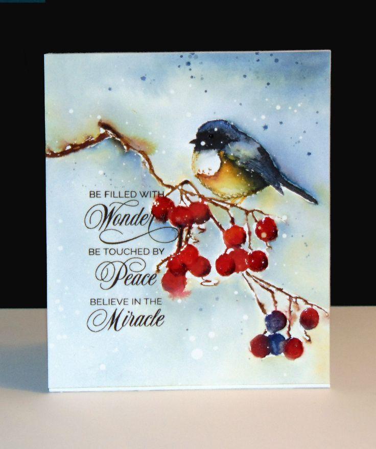 30-374 Winter Joy, 40-346 Berry Merry Christmas et 30-383 Yuletide Wishes de Penny Black par Micheline 'Mimi' Jourdain