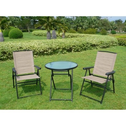 target fitzpatrick 3 piece sling patio folding bistro furniture set
