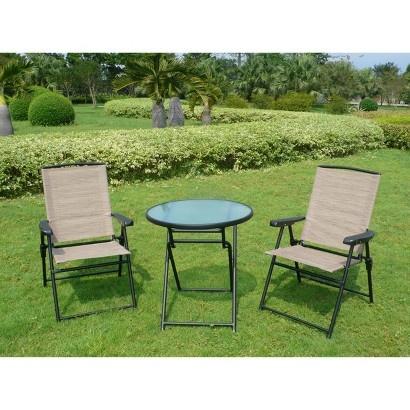 target fitzpatrick 3 piece sling patio folding bistro furniture set