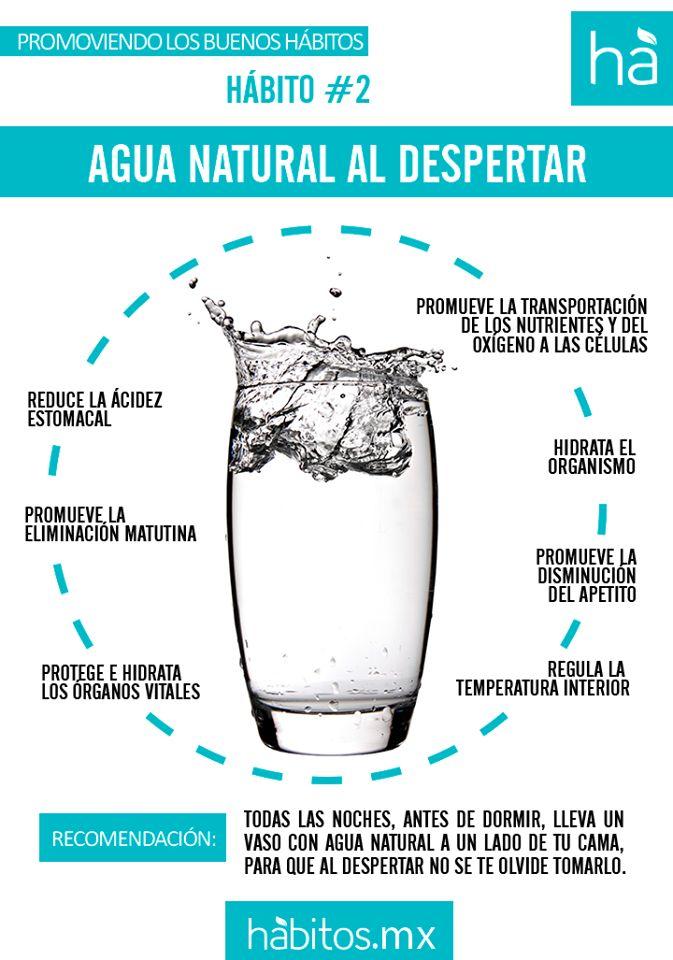 Agua natural al despertar.