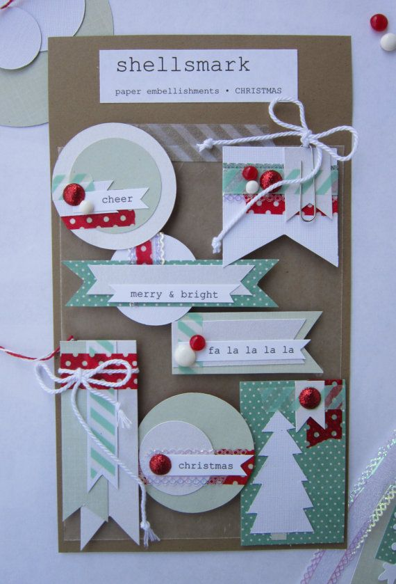Card Making Embellishment Ideas Part - 22: Paper Embellishments: Christmas By Shellsmark On Etsy