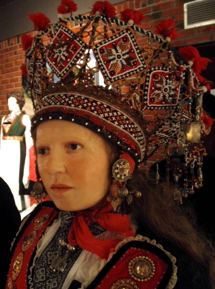 Norwegian folk costumes - Hardanger - bride