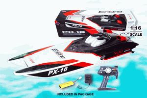 The Brand New STORM ENGINE off shore rc boat fast and furious edition. The STORM ENGINE Rc Boat comes with high performance 390 motors that achieve super fast speeds and great maneuvering capabilities. Comes packed with a 7.2v rechargeable battery and charger! Measuring 30 inches long featuring authentic and stylish detailing, this remote control boat is perfect for pools, ponds, rivers, lakes, and the ocean too.