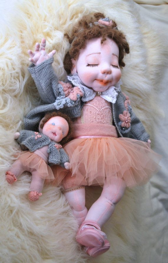 "Waldorf Inspired Doll, Soft Doll, Baby Doll, Cloth Doll, Handmade Doll, Soft Sculptured Doll, Girl Gift, Collectible Doll - Alicia 20"" by MaryUniqueDoll on Etsy"