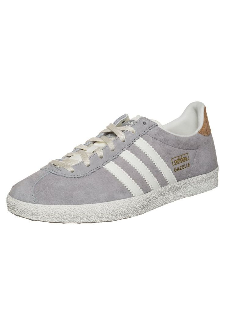 adidas Originals - GAZELLE - Sneakers - solid grey/off white/gold