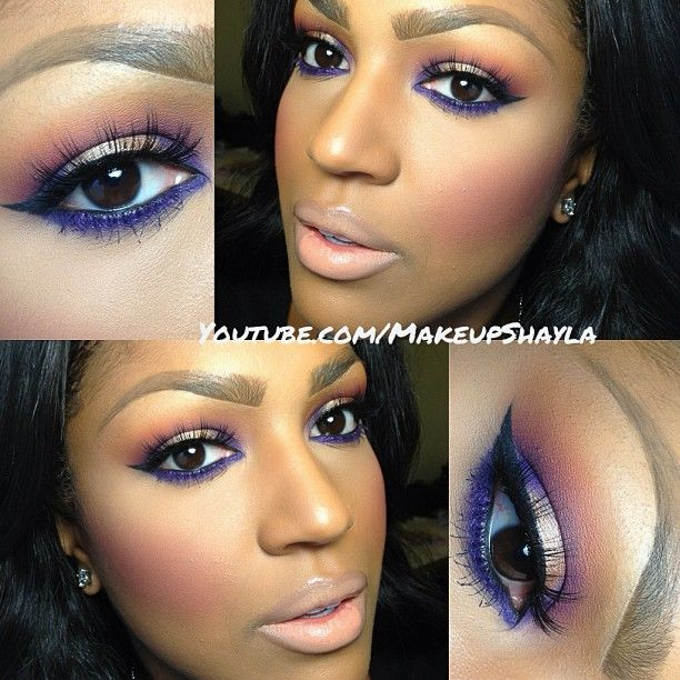 Photo by makeupshayla - purple great colour to highlight brown eyes