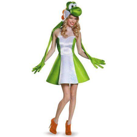 Super Mario Bros Yoshi Women's Plus Size Adult Halloween Costume Costume, XL, Multicolor