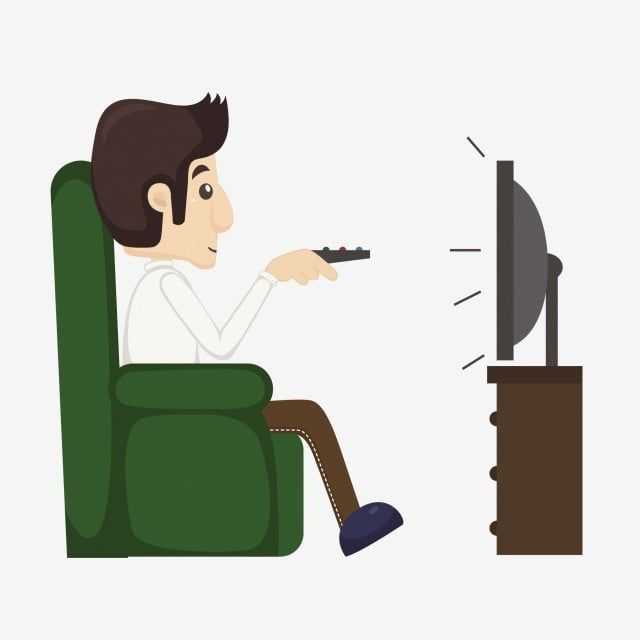 Cartoon Cartoon Man The Man Man Watching Tv Vector And Png In 2020 Cartoon Man Tv Animation Cartoon Tv