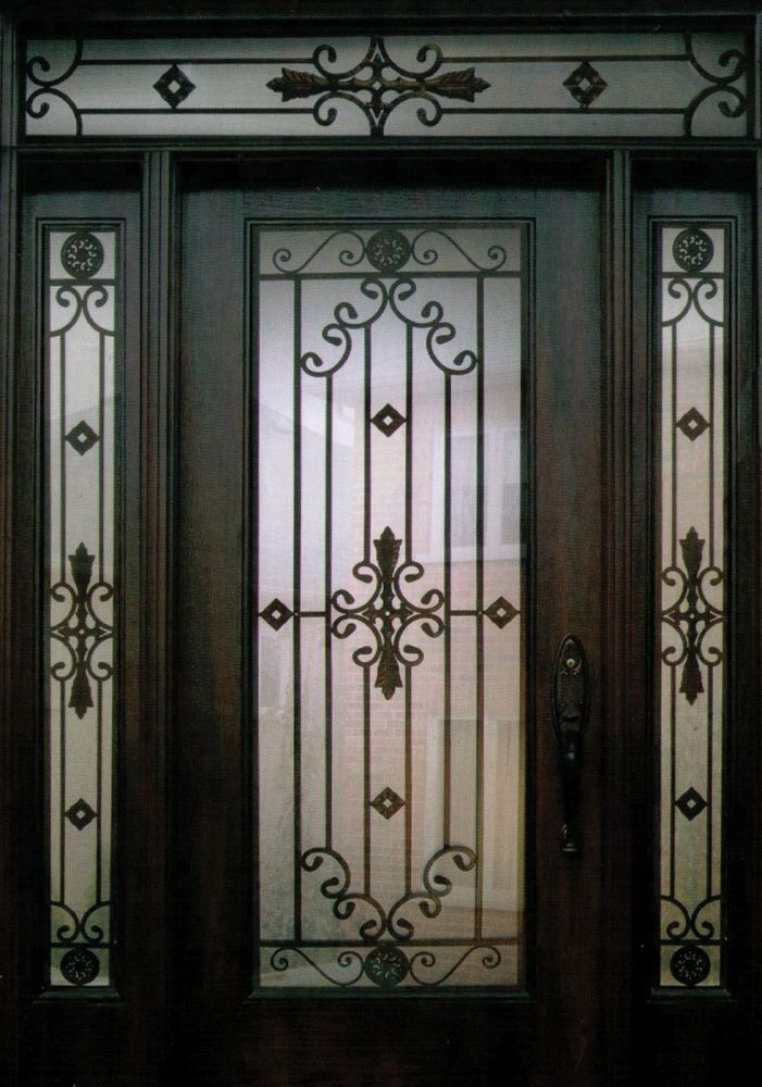 Decorative Steel Doors : An exquisite and stylish decorative wrought iron front