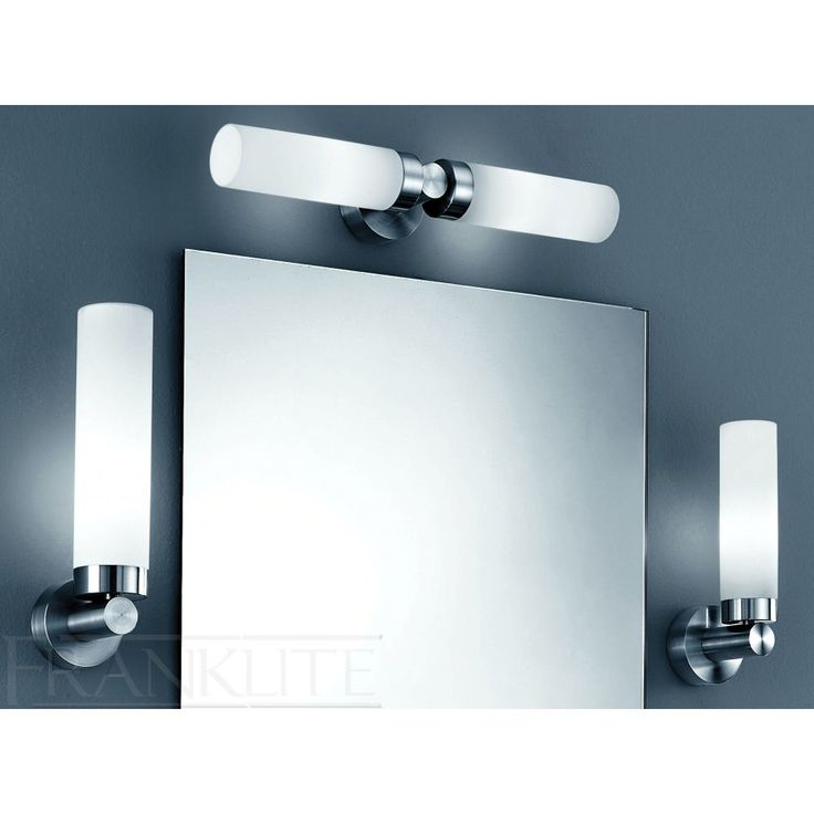 Franklite wb559 bathroom over mirror light franklite for Lights for bathroom mirrors