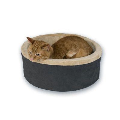 "K&H Manufacturing 16"" Heated Cat Bed in Mocha"