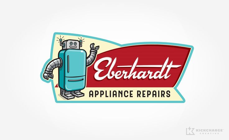 Logo design for Eberhardt Appliance Repairs. - NJ Advertising Agency, NJ Ad Agency, NJ Truck Wrap Design, NJ Logo Design, HVAC Logo Design, HVAC Logo | KickCharge® Creative #logo #branding #brand #logos #bestlogos #bestbranding #advertising #design #graphicdesign #brands