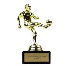 Trophée joueur de foot personnalisable ! #mondial #worldcup #allezlesbleus #cadeau