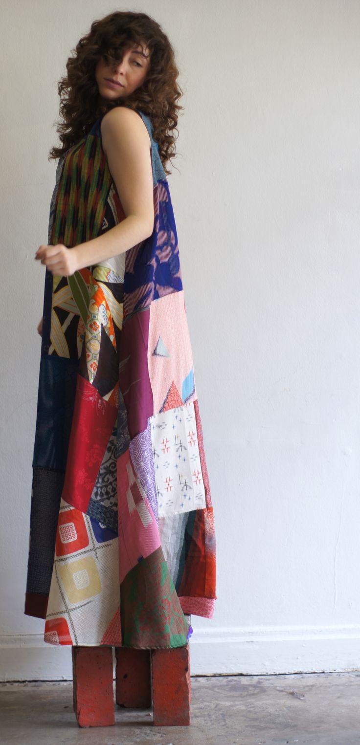 Recycled Kimono Dress http://www.thegrauhaus.com/