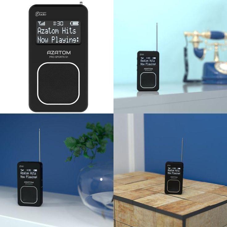 Portable Personal Radio Small Digital Band Dab Fm Time Pocket Handheld Battery