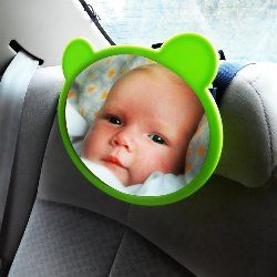 This is an excellent idea for both mommy and baby.Available on Amazon http://www.amazon.com/Baby-Car-Mirror-Protection-Shatterproof/dp/B00G2NGXVO