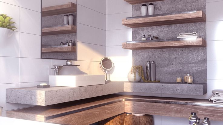 interior 3D rendering, bathroom