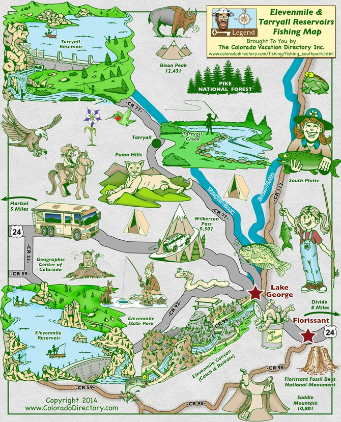 Elevenmile Tarryall Reservoir Fishing Map Co Fishing