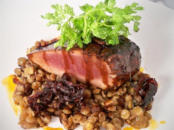 Mustard-Glazed Salmon With Lentils Recipes — Dishmaps