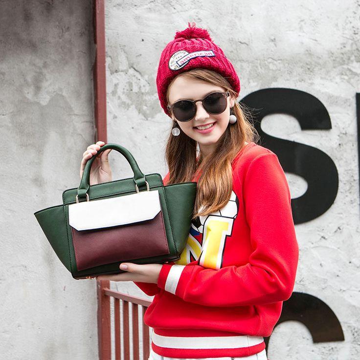 New Arrival bolsas femininas bolsas de marcas famosas  Clutch PU Leather Designer Handbags spring new hit color totes bag