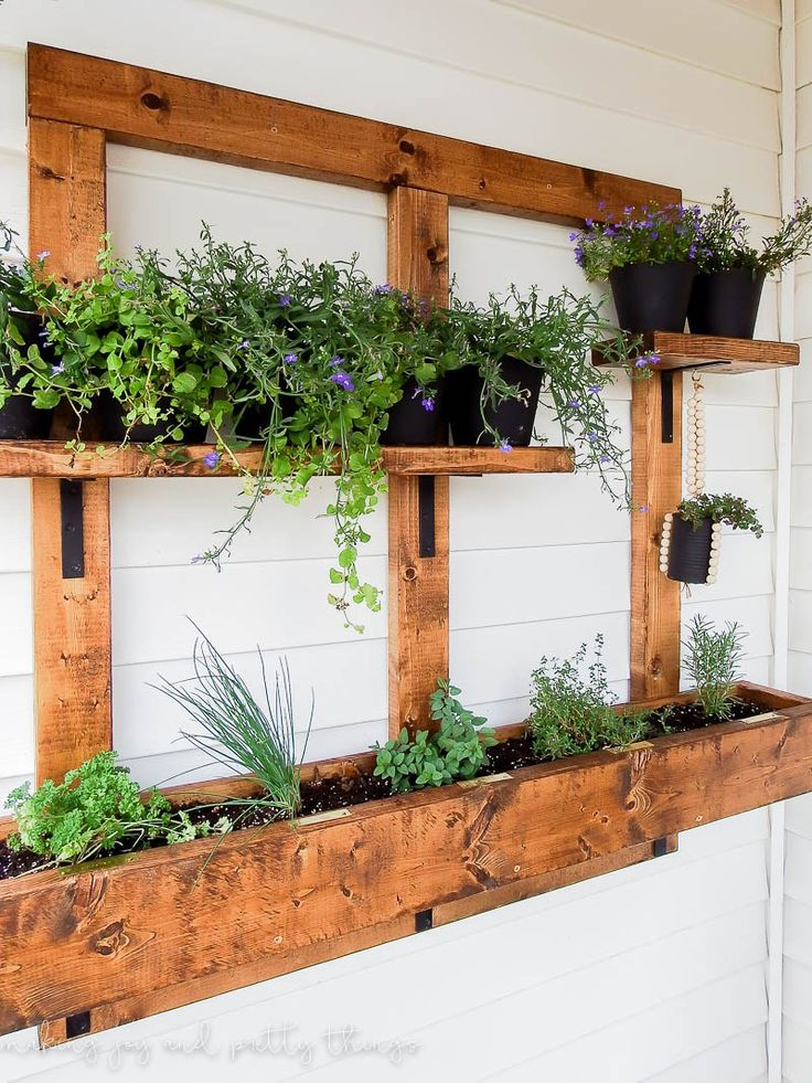 Best 25 outdoor wall planters ideas on pinterest herb for Wall plants outdoor