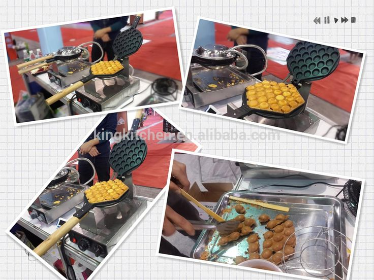 Electric traditional thermostat bubble waffle maker / HongKong egg ball dim sum machine / Eggette waffle baker machine