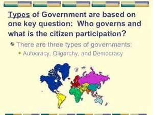 Autocracy Government Examples Types of government autocracy, oligarchy ...