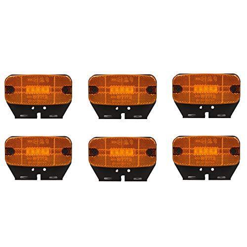 6xbernstein Orange Led Seitenmarkierungsleuchte Anhanger Wohnwagen 12v Oder 24v Geeignet Fur Den Einsatz Auf Beiden 12v Und 24v Anhanger Dient Als Bernstein