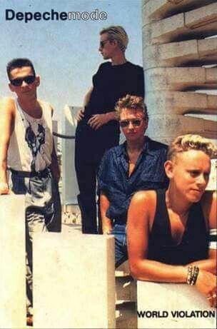 Depeche Mode. World Violation Tour Poster. 1990