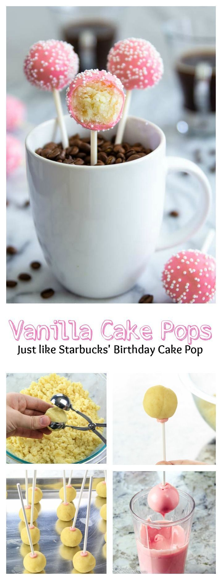 A step-by-step guide to perfect vanilla cake pops! – Recipes t …   – Kuchen, Muffins